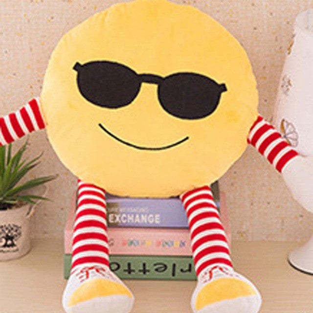 20 CM Cute Emoji Emoticon Cushions Home Decor Soft Plush Smiley Face Pillow Cartoon Toy Doll Emoji Throw Pillows Christmas Gift - Deals Blast