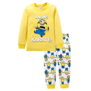 Kids Clothes Long sleeve New Toddler Boys Clothing Set Minions Baby girls Clothes Children Clothing sets Cartoon pajamas 2-7y: Deals Blast