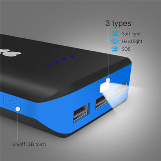 EC Technology Mobile Charger Power Bank 20000mah Portable External Battery Charger 3 USB Powerbank bank power bateria - Deals Blast