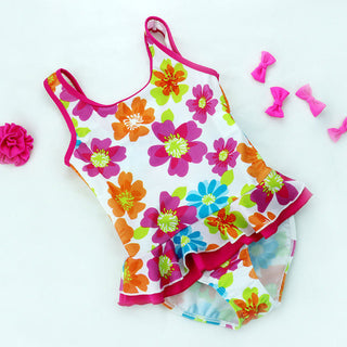 Kids Bathing Suits Girls One Piece Floral Bikini 2017 children's swimwear for girls infant swimsuit girl child Summer bikini: Deals Blast