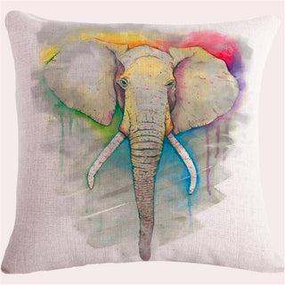 Joyous Elephant 45x45cm Linen Cushion for Chair No filling Inside Home Decor Cushions Decorative Throw Pillow Emoji Smiley Cojin: Deals Blast