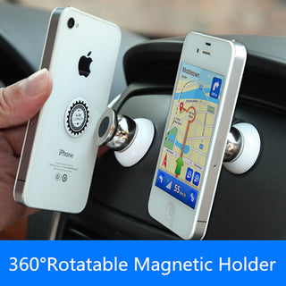 360 Car Holder Mini Air Vent Mount Magnet Magnetic Cell Phone Mobile Holder Universal For iPhone 7 6 5 GPS Bracket Stand Support: Deals Blast