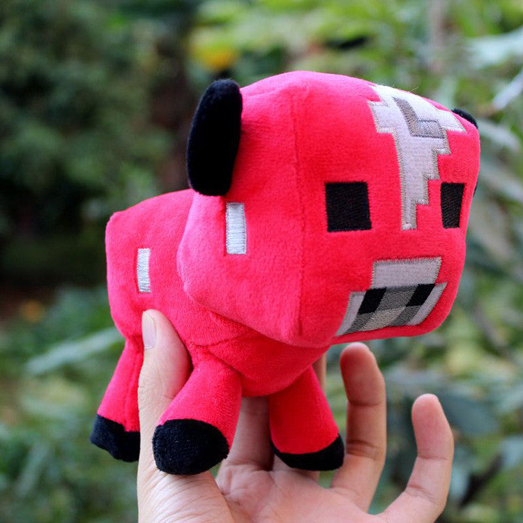 16cm Minecraft Game Toy Stuffed Plush Toys Red Minecraft Mooshroom Animal Plush Toys Doll Soft Toy for Kids Dolls Gifts - Deals Blast