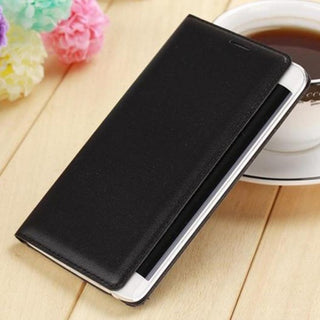Slim Leather Wallet Case Flip Back Cover Battery Housing Carrying Shell With Card Holder Mask For Samsung Galaxy Note Edge - Deals Blast