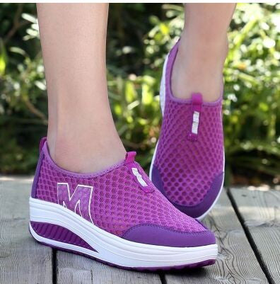 Slimming shoes women fashion leather casual shoes women Fitness Lady Swing Shoes Summer Factory Whose Top quality - Deals Blast