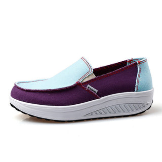 2017  Fashion Shook Slimming Flat Platform Shoes Size 36-40 Femlae Comfortable  Canvas Women Shoes Slip On Casual Shoes - Deals Blast