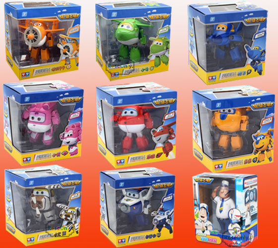 15 cm Big Size Super Wings Jett Donnie Dizzy Jerome Jimbo Paul 9 style Deformation Toys Brinquedos birthday goft for children - Deals Blast