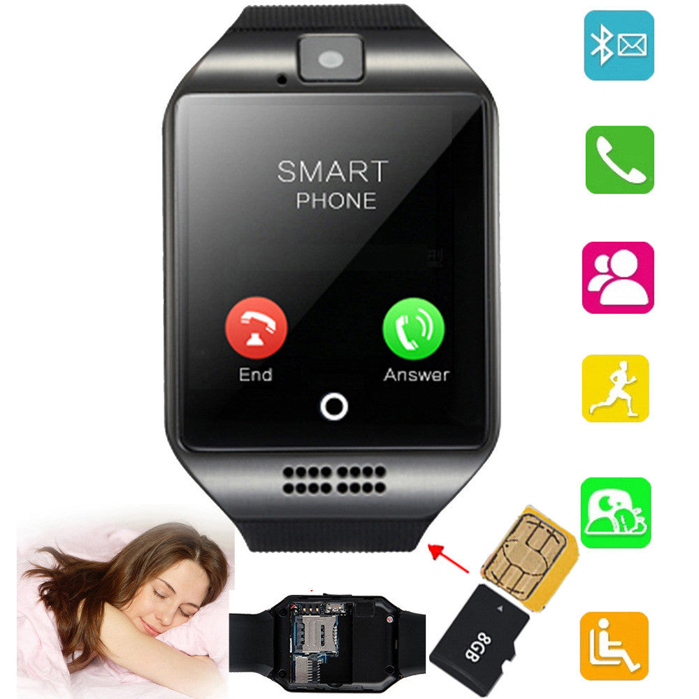 Black Screen Touch Bluetooth Smart Watch phone Support TF SIM Card for  Android IOS Samsung Galaxy S7 S6 Apple iPhone 6 6S LG G4