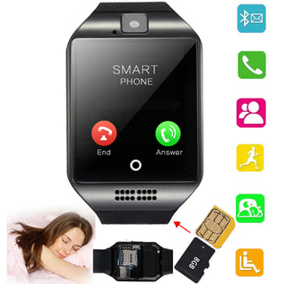 Black Screen Touch Bluetooth Smart Watch phone Support TF SIM Card for Android IOS Samsung Galaxy S7 S6 Apple iPhone 6 6S LG G4 - Deals Blast