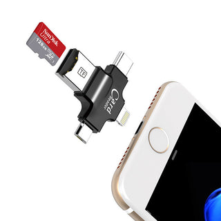 4 in 1 sandisk 32GB 64GB Pendrive OTG USB Flash Drive for iPhone 5/5s/5c/6/6 Plus/7/ipad OTG Card reader Pen Drive 16GB: Deals Blast