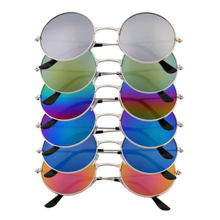 Hot! Women Men Anti Glare Colorful Mirror lens Round Glasses Sunglasses Vintage New Fashion Hot - Deals Blast