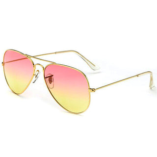 Elegant Design Unisex Metal Frame Frog Mirror Trendy Gradient Sunglasses Summer Style Eyewear Eyeglasses - Deals Blast