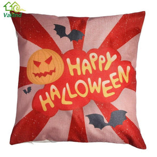 45cm * 45cm Halloween Party Decorative Throw Cushion Cover  Linen Cotton Pillow Case Festival Gift For Car Sofa Seat Pillowcase: Deals Blast