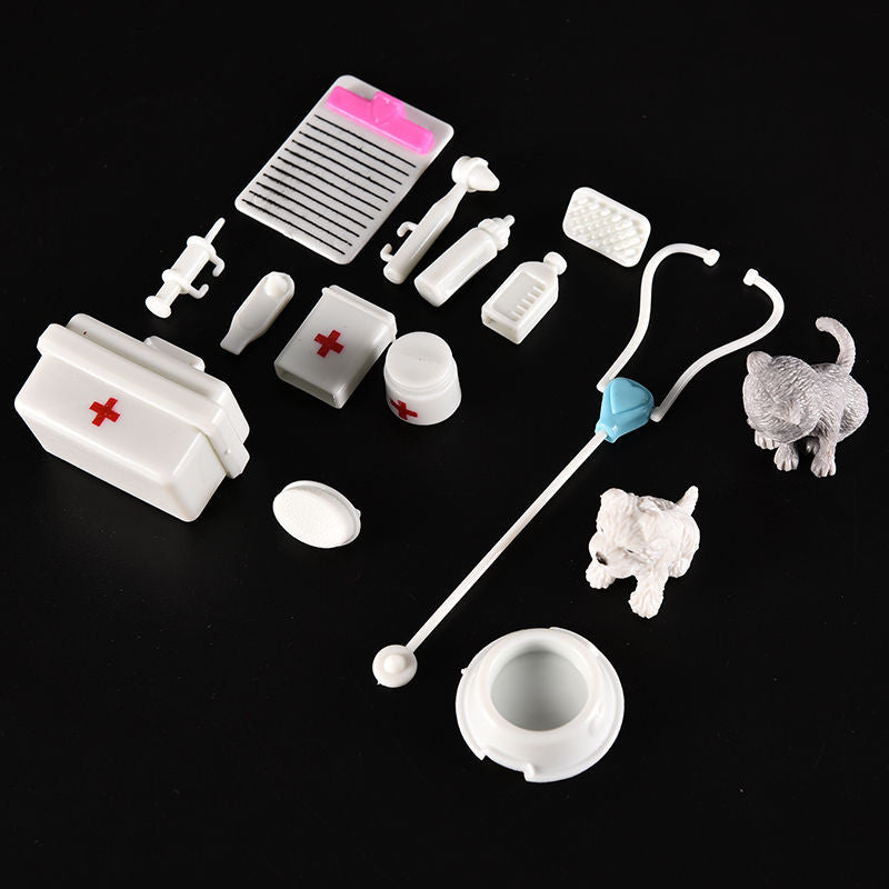 1 Set Mini Kids Doctor Nurse Medical Plastic Role Plays Set Case Baby Kit Popular Decor Puzzle Science Educational Toys - Deals Blast