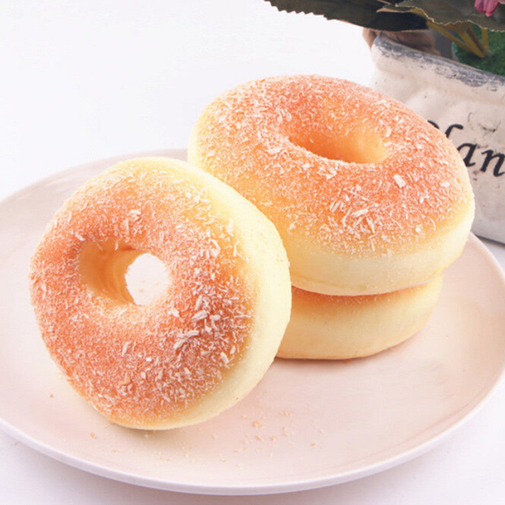 1PCS Kitchen Toys Simulation Donuts Decor Charms Baby Kids Children Food Pretend Play Squishy Bagels Bread Fake Doughnut - Deals Blast