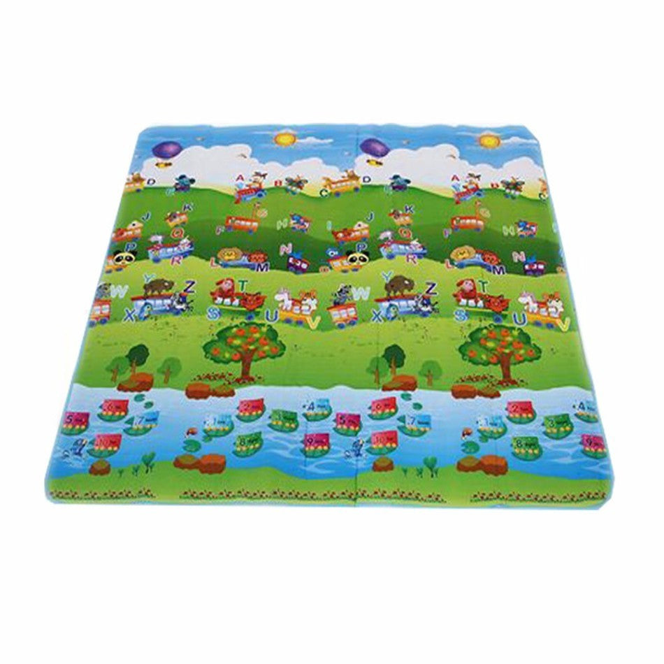 150*180cm Double-Site Foam Play Mat Gym Carpet Ocean And Zoo Beach Mat Picnic Carpet Crawling Mat - Deals Blast