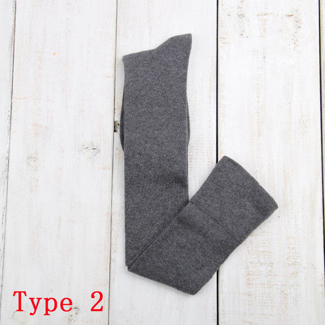 10 Solid Colors Long sexy Stockings Female Warm Thigh High Over the Knee Cotton Girls Ladies Women winter - Deals Blast