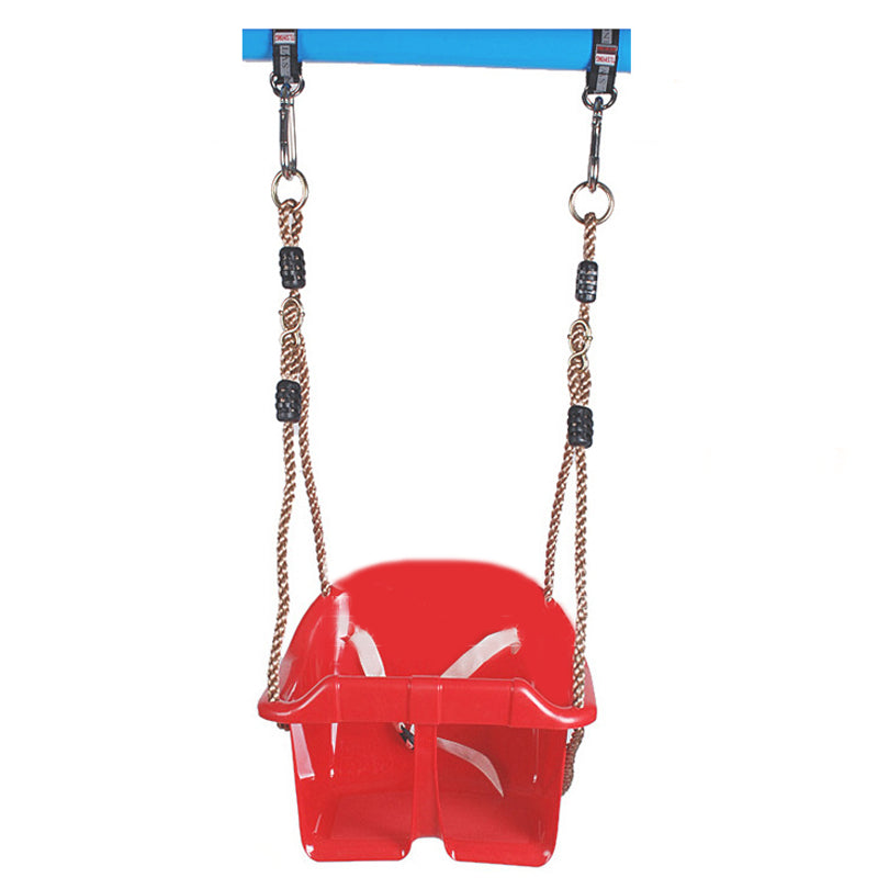 1 Set Indoor Outdoor Safe Healthy Swing For Kids Toys for Children Baby Low Back PE Plastic Basket Fun Crazy Games Leisure Time - Deals Blast