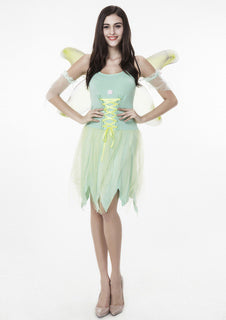 Sexy Adult Anime Tinker Bell coaplay Costume Flower Elf Angel Halloween Costume for Women party fancy dresses - Deals Blast