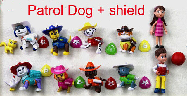 10pcs/set dog patrol meritorious cowboy dog elevator Patrol Puppy Toy Patrulla Canina Juguetes Gift Canine action pawed figure - Deals Blast