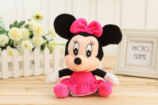 1pcs Lovely Mickey Mouse And Minnie Mouse Plush Toys 18CM Stuffed Cartoon Anime Dolls Children Baby Stuffed Toys For Kids toys - Deals Blast