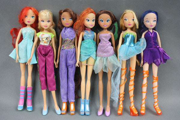 1pcs 28cm Super High Winx Club Doll rainbow colorful girl Action Figures Dolls and Toys For Girls Gift - Deals Blast