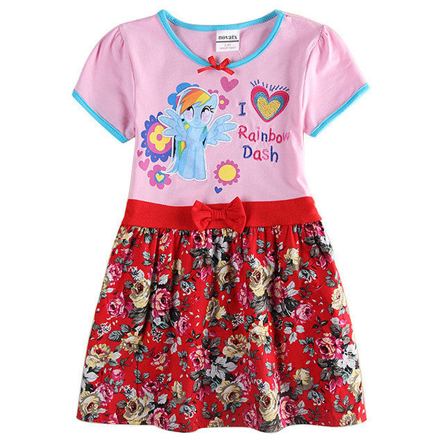2-6T free shipping pink baby girls summer dresses,children's clothes,dresses for girls,kid party vestidos infantis birthday - Deals Blast