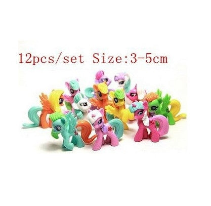 12pieces Collector and Limited Edition my pet horse  very beautiful figure pvc toys for  Christmas gift - Deals Blast