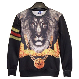 Classic model ! Men/women hoodies print Gold medal Chain Lion Kings 3d sweatshirts pullovers casual sudaderas F3 - Deals Blast