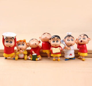 NEW hot 7pcs/set 6cm Crayon Shin-chan Crayon Shin chan collectors action figure toys Christmas toy: Deals Blast
