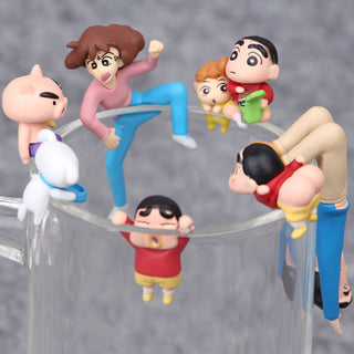 NEW hot 6pcs/set 3cm Crayon Shin-chan Crayon Shin chan collectors action figure toys Christmas toy: Deals Blast