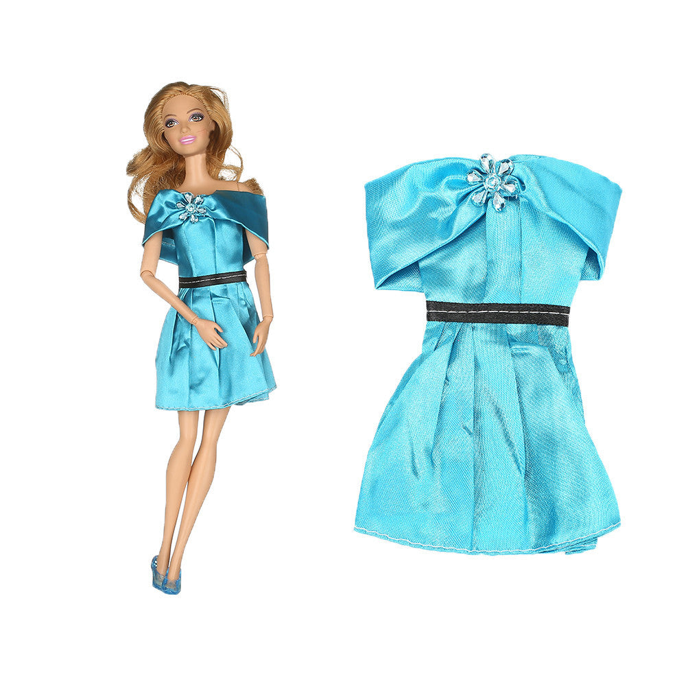 1pcs Handmade Blue Dress For Princess Pocahontas Dress Outfit Clothes For Barbiee Doll Girl Gift Hot Sell Baby Toys AB2 - Deals Blast