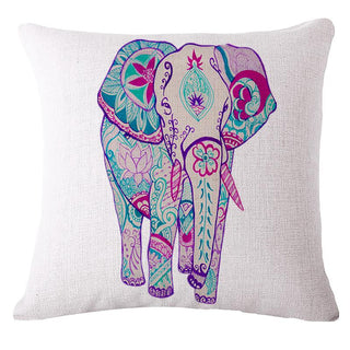 emoji Animals Elephant Cushion Without Core Cushions Cotton Linen Sofa Decorative Throw Pillows 45*45cm coussin /cojines - Deals Blast