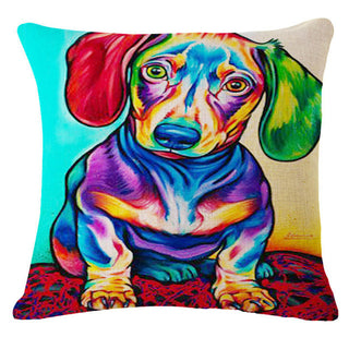 "European Abstract Color Animal Dog Printed Linen Home Decor Cushion With No Core 17"" Throw Pillow Emoji Pad Funda Cojin: Deals Blast"