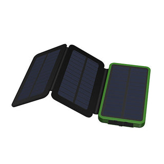 Real 3 Folds Solar Charger Solar Power Bank 10000mAh Rechargeable External Solar Battery Support Solar Charging for Smart Phones - Deals Blast
