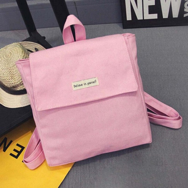 2016 Vintage Women Canvas Backpacks for Teenage Girls School Bags solid Backpack Female Travel Bag mochila rucksack - Deals Blast