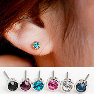 Deals Blast: 2016 Fashion Vintage all-match 7 colors shiny small Rhinestone Crystal Stud Earrings Jewelry Accessories Deals Blast