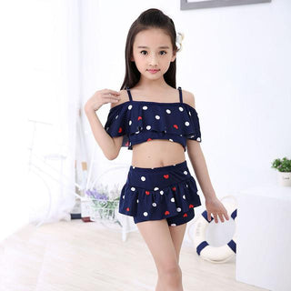 New summer European and American Style Children's Swimwear Girls Split Bikini Kids Cake Layer Swimsuit - Deals Blast