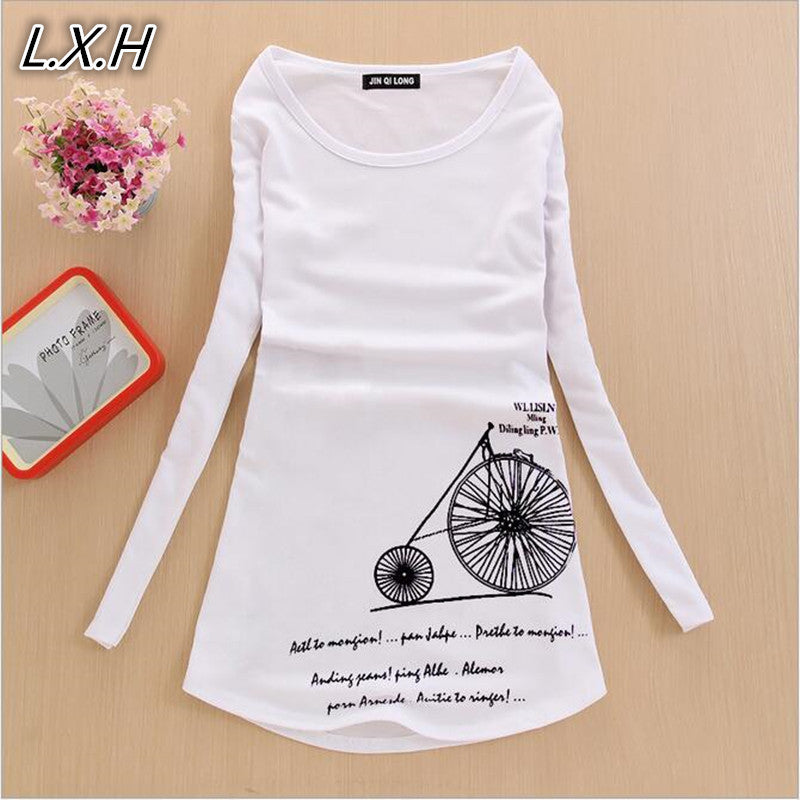 2017 Autumn Women Roupas Femininas Blusas Tops Women's Long Sleeve Tees Women Clothing Womens 3D T-Shirt For Women T Shirt - Deals Blast