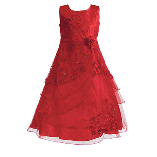 New Flower Girls Party Dress Embroidered Formal Bridesmaid Wedding Girl Christmas Princess Ball Gown Kids Vestido: Deals Blast