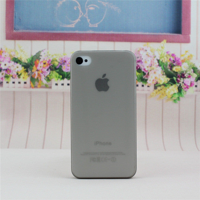 1pcs new arrival 0.3mm ultrathin PP soft matt case for iphone 4 4S,back cover phone case for iphone 4 free shipping - Deals Blast