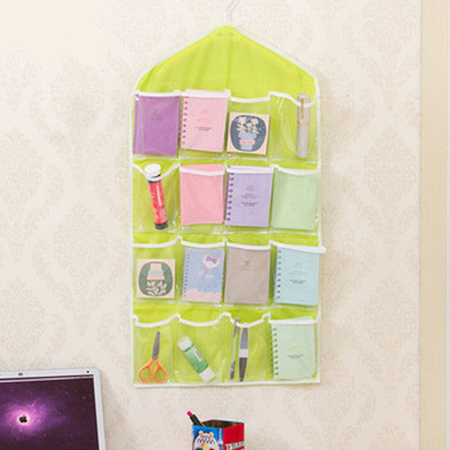16 grids Foldable Wardrobe Hanging Bags Socks Briefs Organizer Clothing Hanger Closet Shoes Underpants Storage Bag - Deals Blast