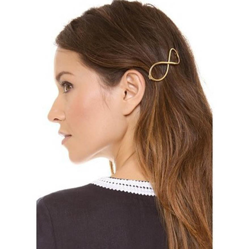 Deals Blast: Stylish 1Pcs Women Infinity Gold Barrette Hairpin Hair Clip Hair accessories Headband Perfect Gift for lady Deals Blast