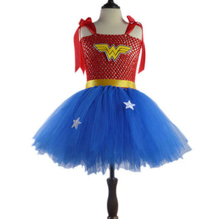 Summer Baby Girl Tutu Dress Wonder Woman Halloween Costume Birthday Dresses For Party Cosplay Superman Costume Baby Party Frocks - Deals Blast