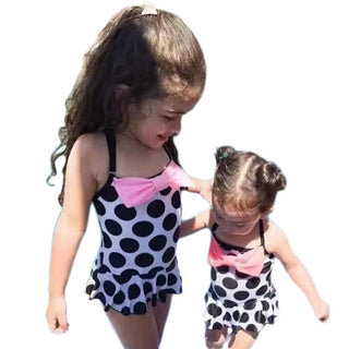 Kids Baby Girls Bow Tie Dot One Piece Suit Bikini Beachwear 2017 New Tankini Monokini  Bathing Suit Swimwear Swimsuit: Deals Blast