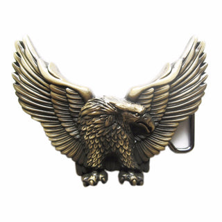 Retail New Antique Bronze Plated American Pride Wild Life Western Eagle Biker Rider Belt Buckle BUCKLE-WT005AB Free Shipping: Deals Blast