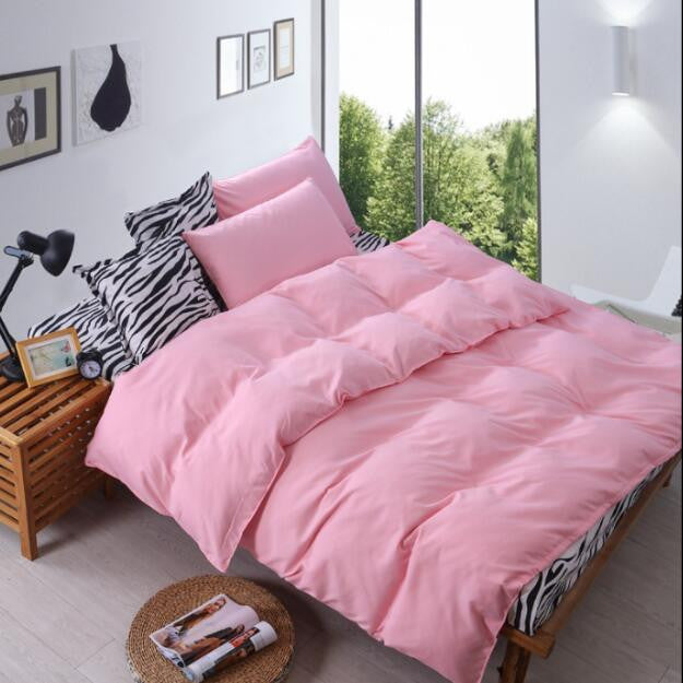 2016 4Pcs Home Wedding Solid Bedding Sets Flowers Cotton Bedding Set King Size Bed Sheet Duvet Cover Pillows Quilt No Comforter - Deals Blast