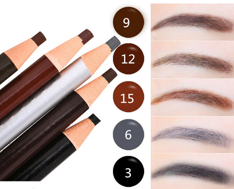 1Pcs New tearing pen eyebrow pencil makeup 5 style paint for eyebrows brushes cosmetics brow eye liner tools brow pencil - Deals Blast