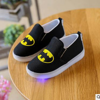 Kids Spiderman Shoes With Light Baby Canvas Sneakers LED Sneakers Kids Shoes For Boys Girls: Deals Blast
