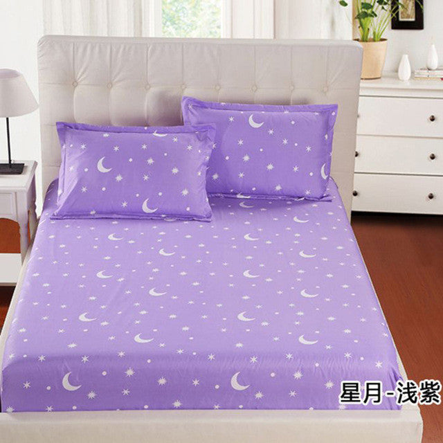 1Piece flower leaf printeFitted Sheet Mattress Cover Printing Bedding Linens Bed Sheets With Elastic Band Double Queen Size Sj28 - Deals Blast